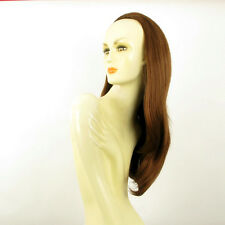 DT Half wig HairPiece extensions long straight coppery golden brown 24.4  :19/30