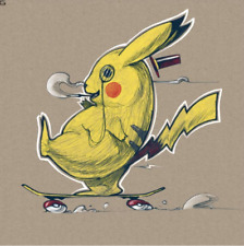 Zach Landrum Gotta Catch Them All #/50 screenprint art Pokemon Pikachu rare