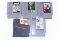 Vintage Nintendo NES Lot of 5 Game Teenage Mutant Ninja Turtles Tecmo Bowl Yoshi