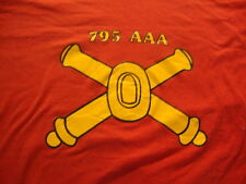 Vintage My Battalion World War II  795th AAA US Army red rare T Shirt M
