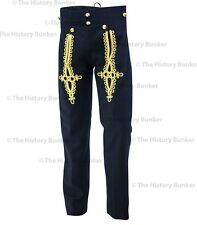 Napoleonic pantaloons - black wool gold embroidery - made to order
