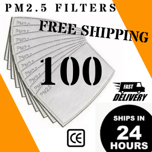 100 PM2.5 Filters for Face Masks 100pcs activated carbon filter US SELLER PM 2.5