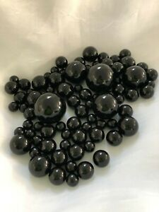 Black Vase Filler Pearls, Floating Pearl Centerpiece, Table Confetti, No Hole