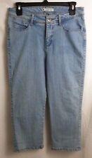 Lee Slender Secret Denim Light Blue Jeans Capri Pants Ladies Stretch 30 x 22