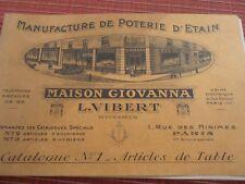 CATALOGUE MANUFACTURE DE POTERIE D'ETAIN SUCRIER MOULIN A POIVRE 1923 (ref 28)