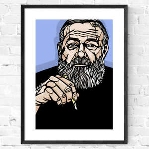 EARNEST HEMINGWAY art print,  archival quality, literature, famous writers, gift