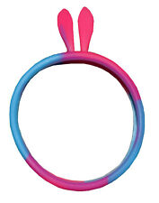 Pink/Blue Bunny Ears Cell,Phone Soft Cool Silicone Bumper Cover Case Perfect Fit