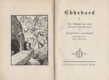 Scheffel: Ekkehard  (mit Bildern von Otto Markus)    1922