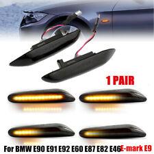2X LED Black Side Marker Light Turn Signals FOR BMW E90 E91 E92 E60 E87 E82 E46