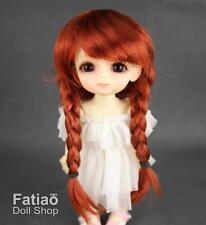"Fatiao - New Dollfie Lati Yellow Pukifee 5-6"" Braid Doll Wig Carrot"