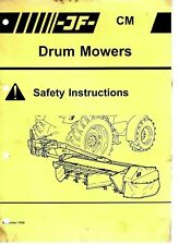 JF  CM Drum Mowers Safety Instructions 1994 9246E