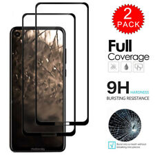 For Motorola One Vision - Full Coverage Tempered Glass Screen Protector [2-Pack]