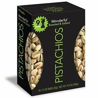 1Pack 9Count - Tasty Pistachios Roasted & Salted - TV Food Delicious Snacks Nuts