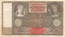Niederlande 100 Gulden 1942 Banknote Serie EW