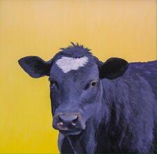 "Cow ""Buster"" 10""x10 Farm Barn Yard Folk Art Giclee Print Signed Americana Cattle"