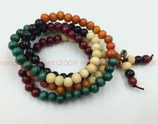 Sandalwood Buddhist Buddha Meditation 8mm 108 Prayer Bead Mala Bracelet Necklace