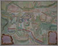 Plan of the Battle of Malplaquet - Spanischer Erbfolgekrieg - Orig. du Bosc 1737