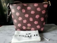👜Coach Rose Print Small Dufflette Cross-body.  Beautiful! NWT👜