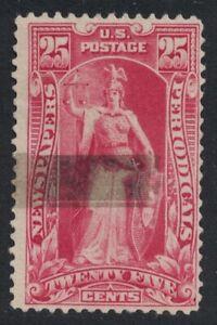 Scott PR118- Used- 25c Newspapers & Periodicals, 1895- Back of Book BOB stamp