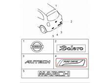 "[NEW] JDM Nissan March K13 Emblem Rear ""PURE DRIVE"" Genuine OEM MICRA"