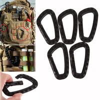 5x Outdoor Carabiner D-Ring Key Chain Clip Hook Camping Buckle Snap Plastic