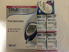 TRUETrack Blood Glucose (200) Test Strips And 100 Lancets + METER Exp: 4/30/2019