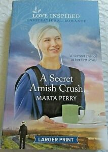 Secret Amish Crush by Marta Perry (2021, Paperback, Larger Print) New Romance