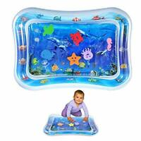 Inflatable Tummy Time Water Mat, Baby Water Play Mat Sensory Toy Infants