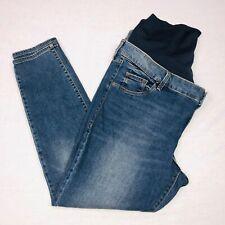 Old Navy Womens Maternity Jeans Sz 18 Blue Medium Super Skinny Full Panel  QK51