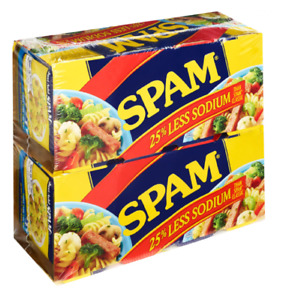 8x SP*M 25% Less SODIUM 12oz reduced salt cans processed pork ham meat emergency