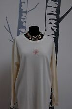 Stunning Ladies Cream 'Oscar B'  Top Size XL BNWOT (CC7))
