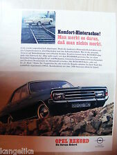 Opel--Komfort Hinterachse--Opel Rekord--Europa Rekord---Werbung von 1967
