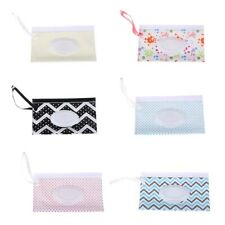 Easy Carry Wet Wipes Bag Napkin Storage Box Wipes Case Snap Strap Cosmetic