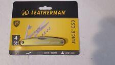 NEW~ Leatherman Juice CS3 Folding Knife, Moss Green