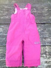 The Children's Place Girls Pink Snow Ski Bib Overalls Size 18 Months