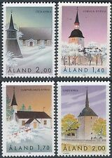 Finland Aland 1988-1995 MNH - Churches - Geta - Jomala - Lumparland -Sund Church