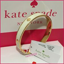NEW  Kate Spade New York Cream with Gold tone Spades  Bangle Bracelet $48