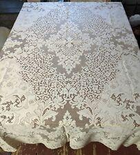 """Vintage Quaker Lace Tablecloth, #4370, 80"""" x 84"""", Picots - S24"""
