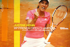 Justine Henin CHAMPION French Open Wilson Classic Womens Tennis RARE POSTER