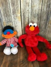 "Lot TYCO Sesame Street Sleep Snore Ernie Talking Plush 18"" Big Hugs Elmo 24"""