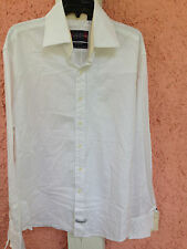 English Laundry 100% Cotton Hand Sewn Button Front Shirt / Men's Large / White