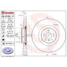 2 Bremsscheibe BREMBO 09.R105.11 COATED DISC LINE passend für MERCEDES-BENZ