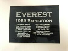 1953 Mount Everest Expedition 190x140mm Engraved Plaque for Memorabilia Display
