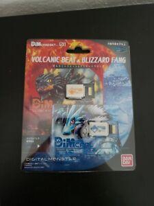 Bandai DIM Cards Vol. 1 Volcanic Beat & Blizzard Fang for Digimon Vital Bracelet