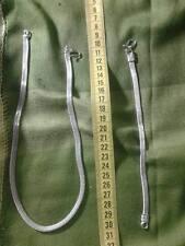 collana 46cm  e bracciale 20cm maglia piatta snake   bagno argento indiano