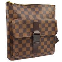 LOUIS VUITTON POCHETTE MELVILLE SHOULDER BAG DAMIER EBENE N51127 FL0035 AK42057