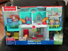Fisher Price Little People Big Helpers Home House Teal sounds New dog puppy toy