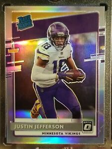 JUSTIN JEFFERSON 2020 Donruss OPTIC RATED ROOKIE SILVER HOLO PRIZM VIKINGS READ!