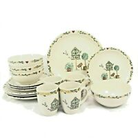 16 PIECE SET THOMSON BIRDHOUSE DINNERWARE DINNER SALAD BOWL MUG FREE SHIPPING