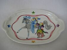 "BEAUTIFUL DEPUIS 1748 VILLEROY & BOCH LUXEMBOURG ""LE CIRQUE"" VITRO OVAL PLATE"
